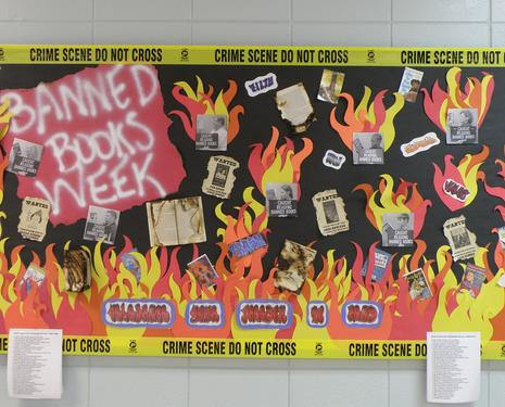 Banned Books Week Bulletin Board