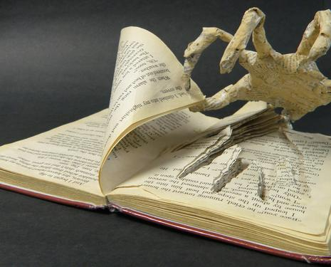 Halloween Book Sculpture
